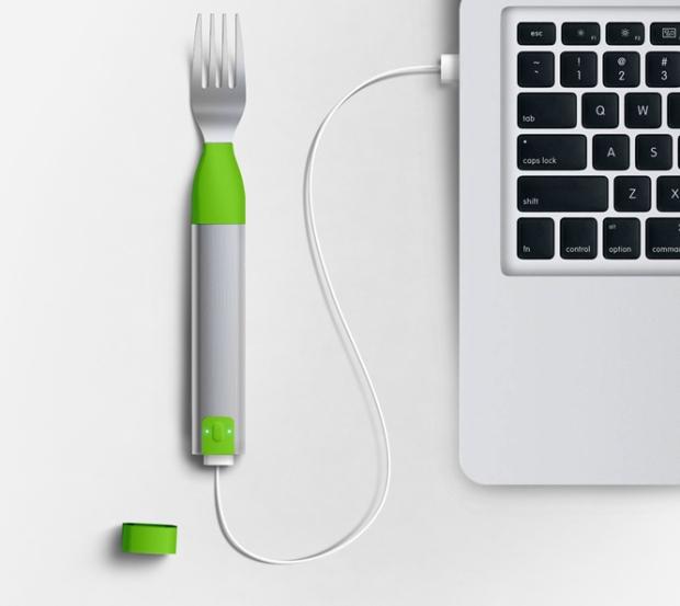 HAPIfork-laptop