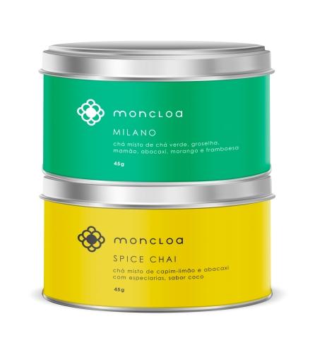 Moncloa Tea Boutique - Milano e Spice Chai - lata -divulgação